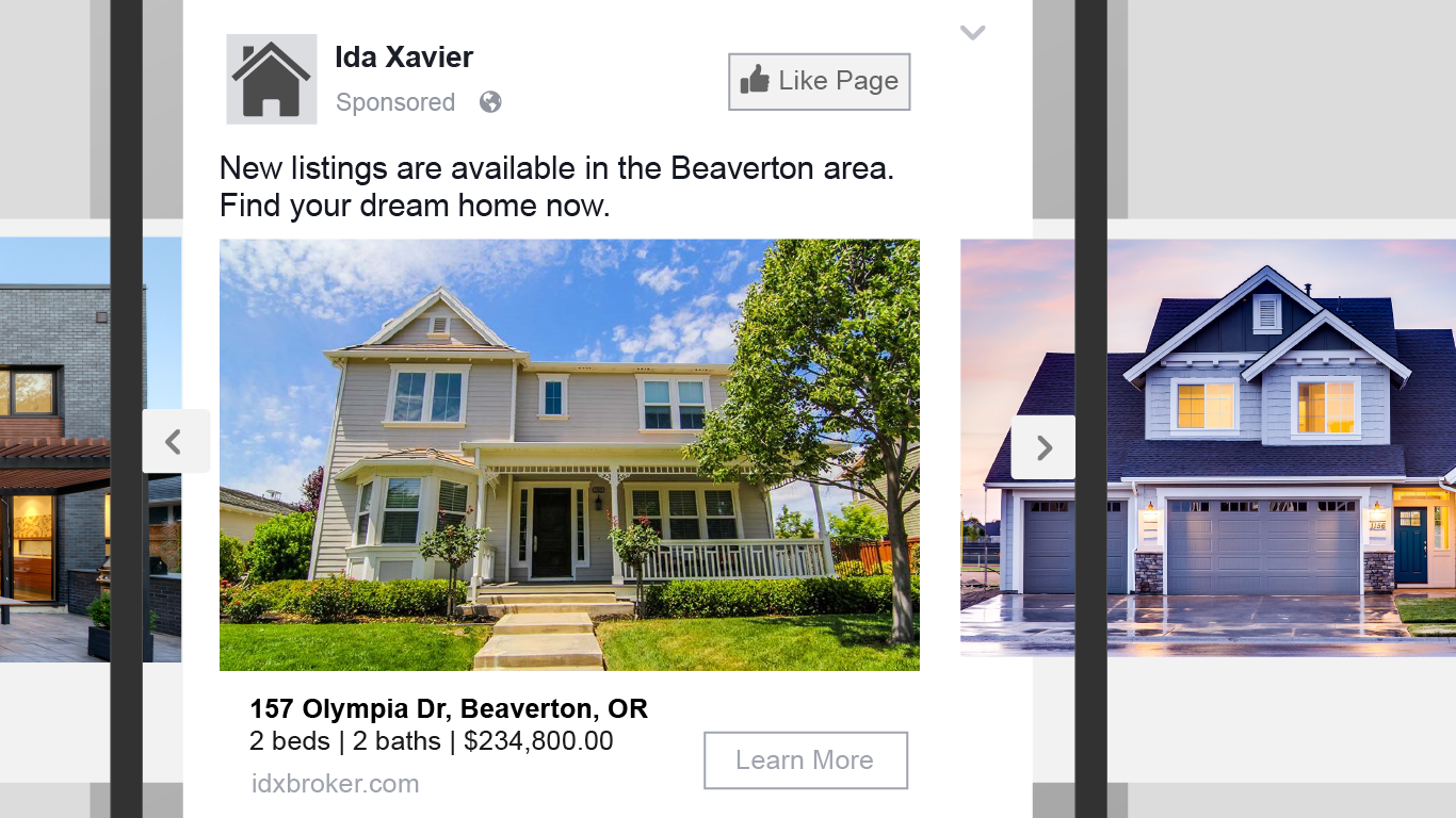 Idx Broker Platinum Dynamic Ads For Real Estate By Facebook